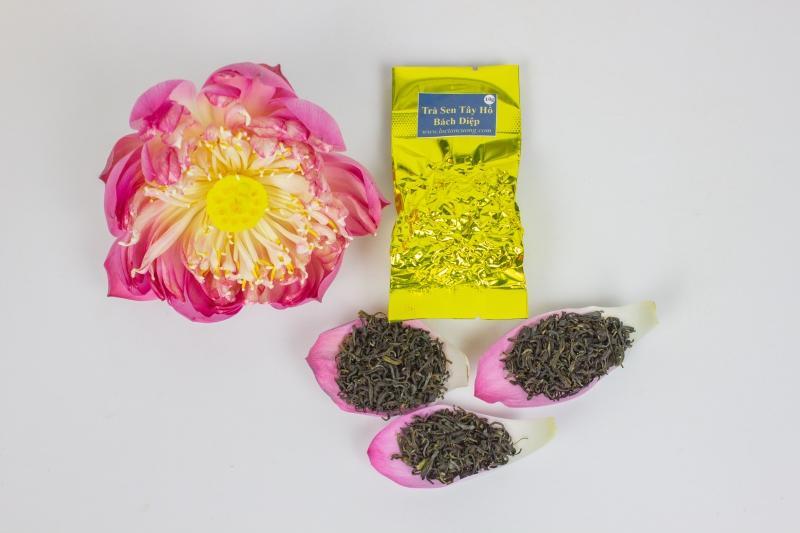 Trà Sen Tây Hồ Bách Diệp hộp 25 tép nhỏ 250 gram