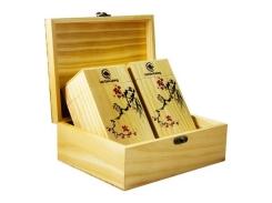 Hộp trà quà tặng bằng gỗ - Trà Đinh Tân Cương 200 gram